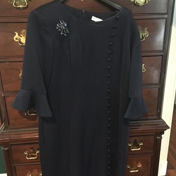 lily ann Dresses & Skirts - NYC new 2018 navy Lilly Ann Taylor dress scuba